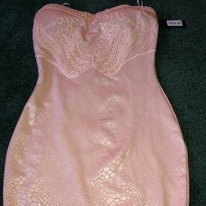 Blush snakeskin printed dress